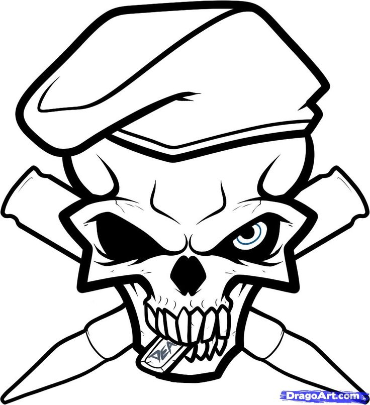 Cool skull coloring pages - cfapreparation.info