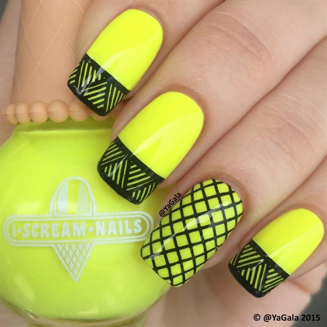 Aretini Nails  Acryl Neon Color yellow