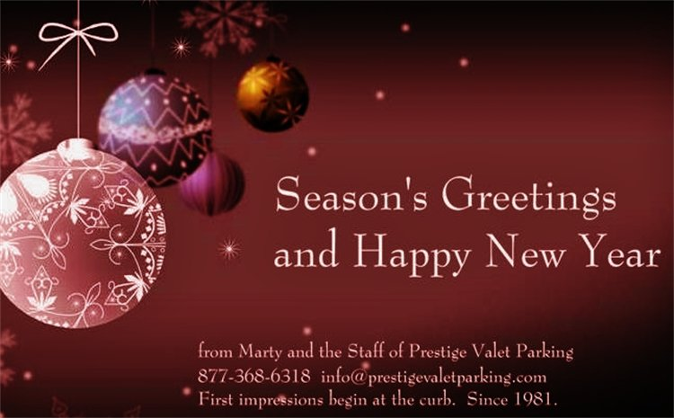 Season's Greetings And Happy New Year Greeting Card